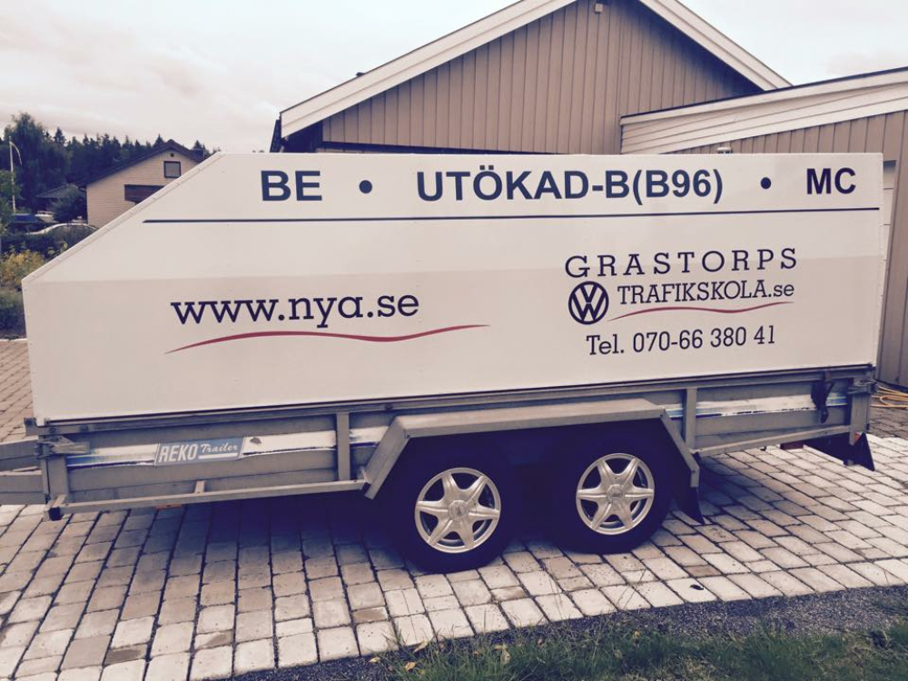 Släpvagn Nya Trafikskolan Lidköping